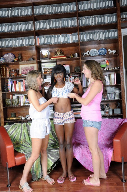Ana Foxxx & Alex Chance & Presley Hart in lesbian gallery from ATKPETITES