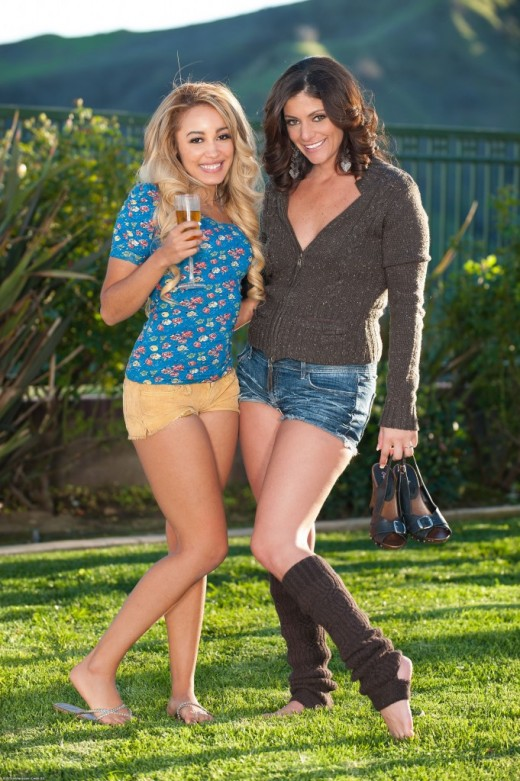 Alicia Silver & Tinslee Reagan in hairy lesbians gallery from ATKPETITES