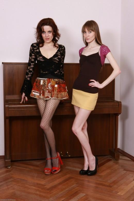 Lizaveta K & Vasilisa in hairy lesbians gallery from ATKPETITES