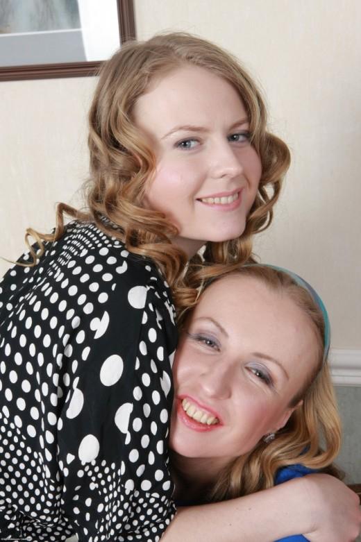 Yulja & Elegiya in hairy lesbians gallery from ATKPETITES