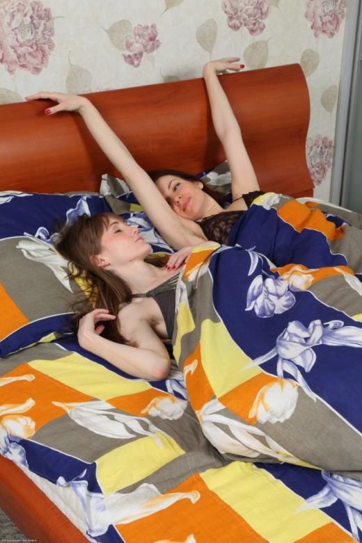 Lizaveta K & Vasilisa - `hairy lesbians` - for ATKPETITES