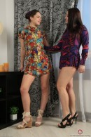 Canella & Alya in hairy lesbians gallery from ATKPETITES
