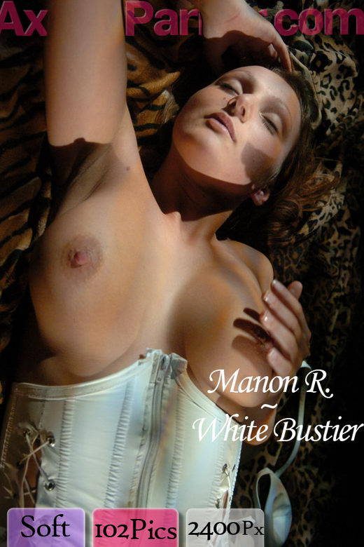 Manon R - `White Bustier` - for AXELLE PARKER
