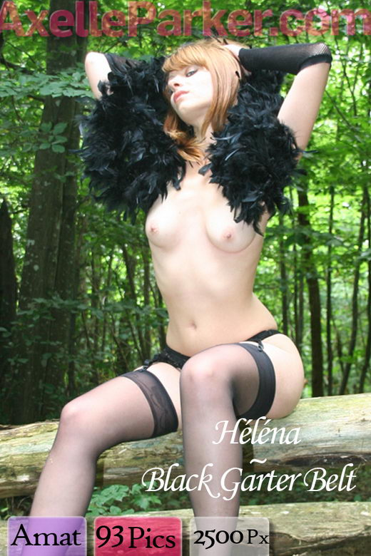 Helena - `Black Garter Belt` - for AXELLE PARKER