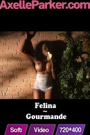 Felina in Gourmande video from AXELLE PARKER