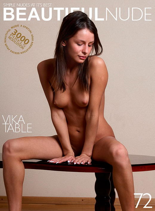 Vika - `Vika on table` - by Peter Janhans for BEAUTIFULNUDE