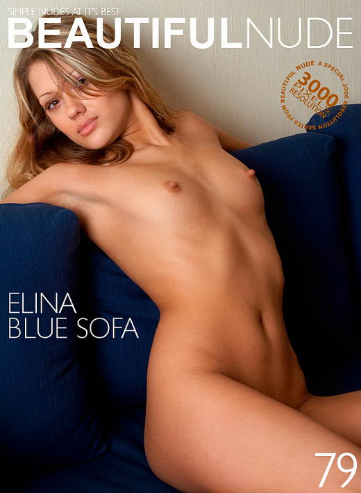 Elina - `Blue Sofa` - by Peter Janhans for BEAUTIFULNUDE