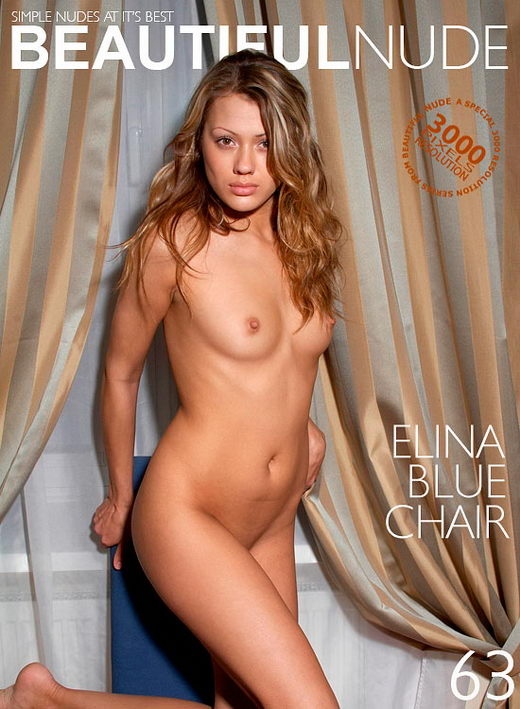 Elina - `Blue Chair` - by Peter Janhans for BEAUTIFULNUDE