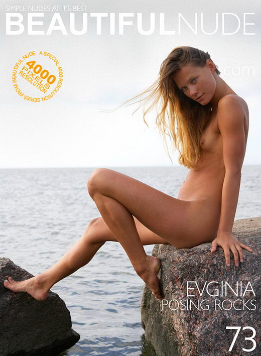 Evginia - `Posing Rocks` - by Peter Janhans for BEAUTIFULNUDE
