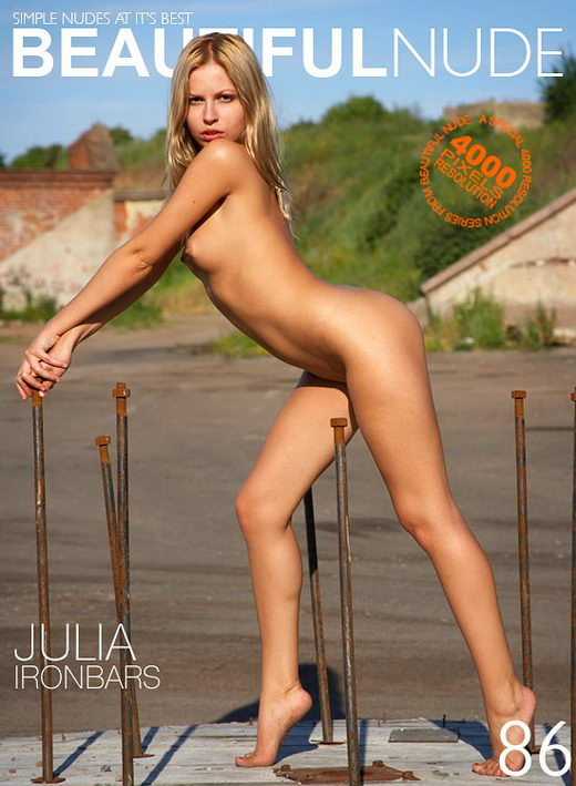 Julia - `Iron Bars` - by Peter Janhans for BEAUTIFULNUDE