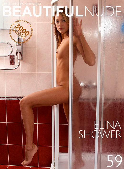 Elina - `Shower` - by Peter Janhans for BEAUTIFULNUDE