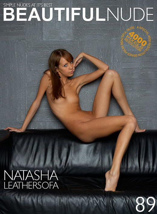 Natasha - `Leather Sofa` - by Peter Janhans for BEAUTIFULNUDE