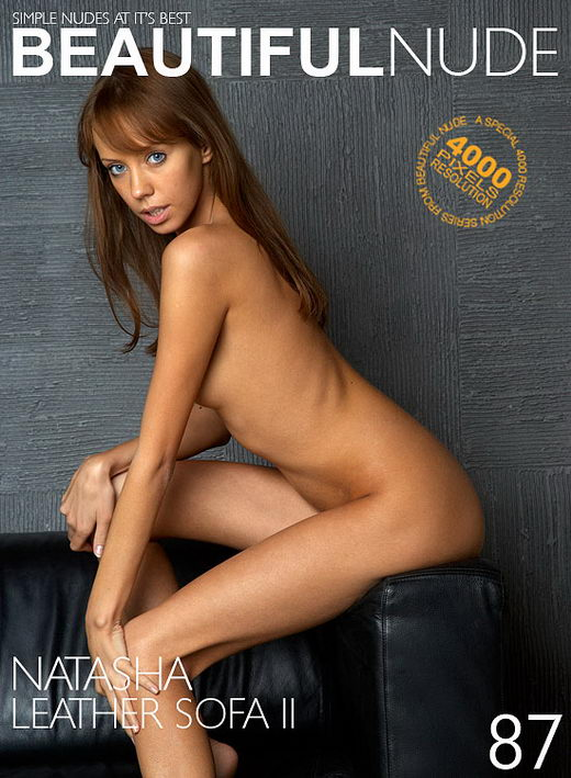 Natasha - `Leather Sofa II` - by Peter Janhans for BEAUTIFULNUDE