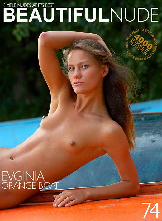 Evginia - `Orange Boat` - by Peter Janhans for BEAUTIFULNUDE
