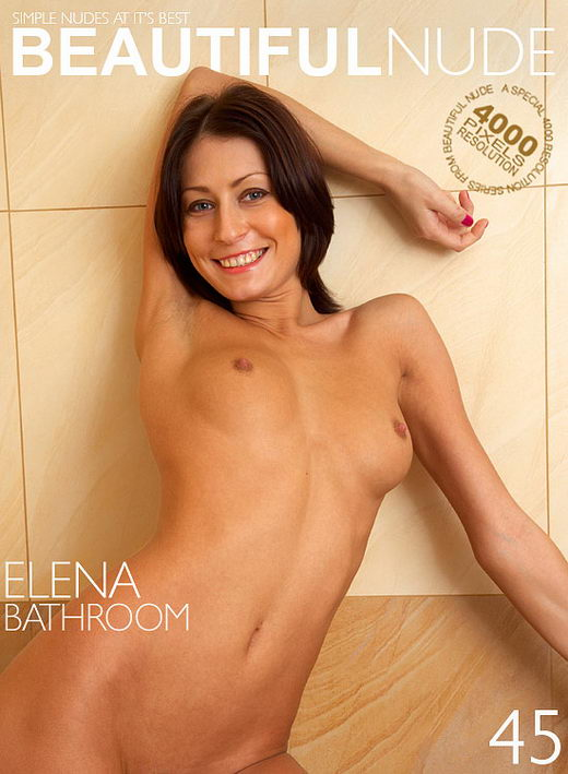 Elena - `Bathroom` - by Peter Janhans for BEAUTIFULNUDE