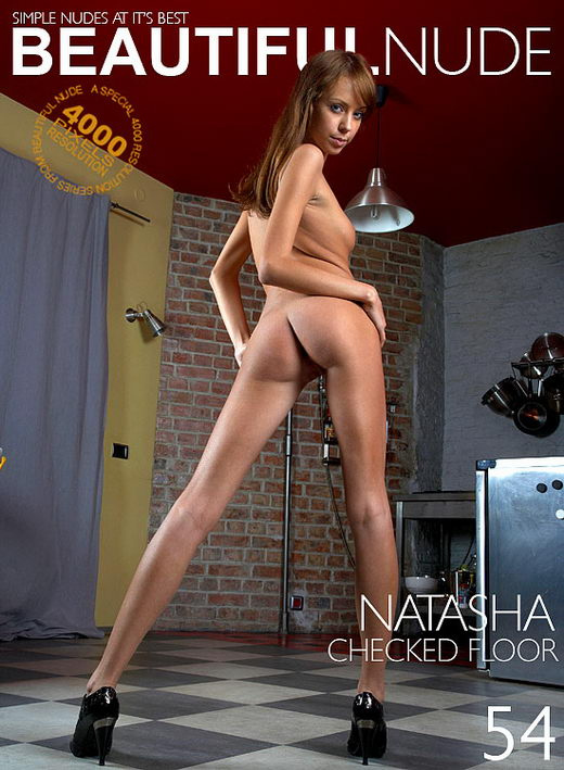 Natasha - `Checked Floor` - by Peter Janhans for BEAUTIFULNUDE