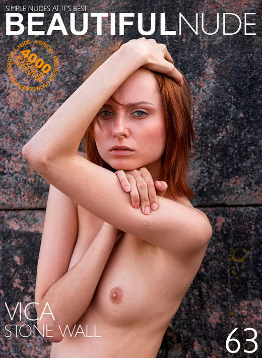 Vica - `Stone Wall` - by Peter Janhans for BEAUTIFULNUDE