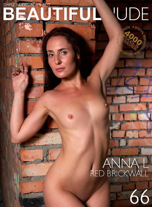 Anna L - `Red Brickwall` - by Peter Janhans for BEAUTIFULNUDE