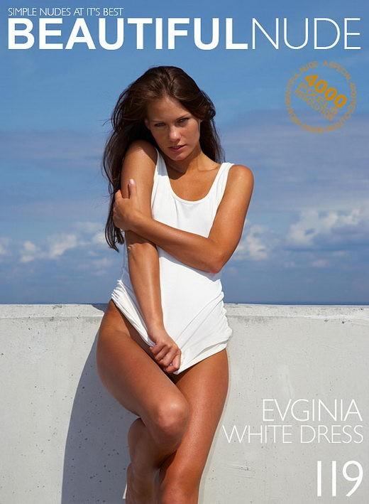Evginia - `White Dress` - by Peter Janhans for BEAUTIFULNUDE