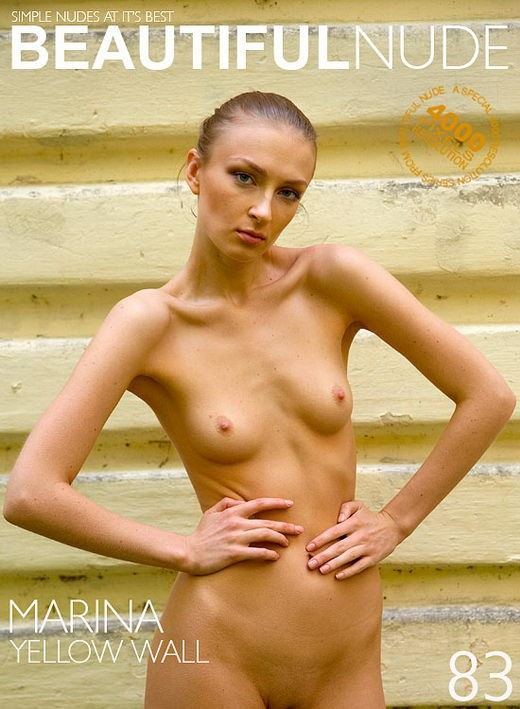 Marina - `Yellow Wall` - by Peter Janhans for BEAUTIFULNUDE