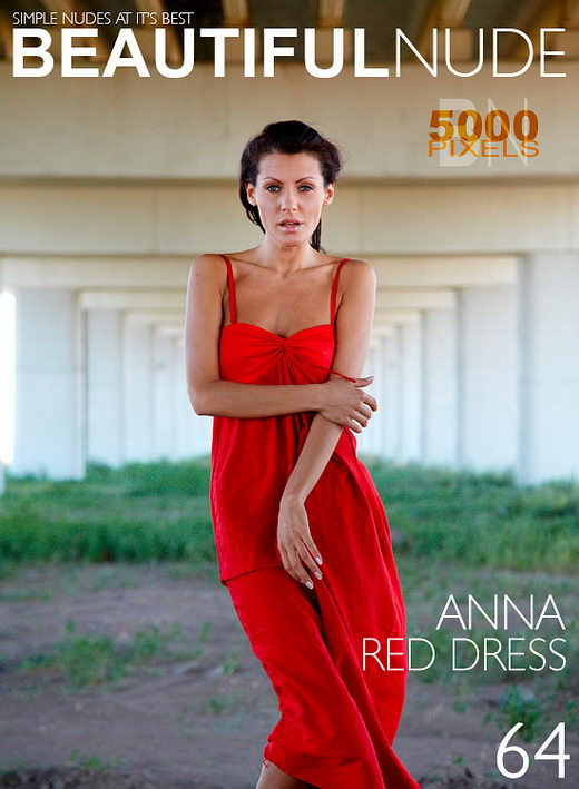 Anna - `Red Dress` - by Peter Janhans for BEAUTIFULNUDE