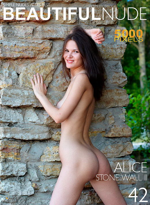 Alice - `Stone Wall II` - by Peter Janhans for BEAUTIFULNUDE