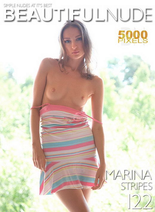 Marina - `Sripes` - by Peter Janhans for BEAUTIFULNUDE