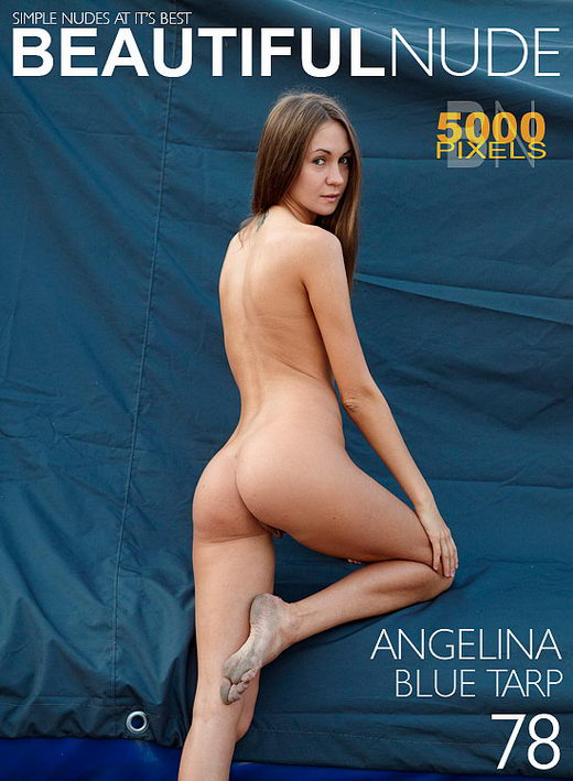 Angelina - `Blue Tarp` - by Peter Janhans for BEAUTIFULNUDE