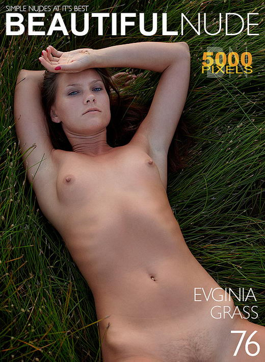Evginia - `Grass Issue 698` - by Peter Janhans for BEAUTIFULNUDE