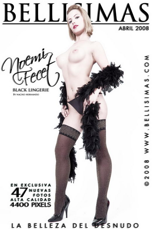 Noemi Fecet - `Black Lingerie` - by Nacho Hernando for BELLISIMAS