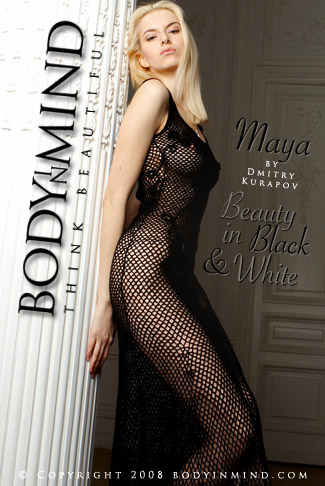 Maya - `Beauty in Blak & White` - by Dmitri Kuropov for BODYINMIND