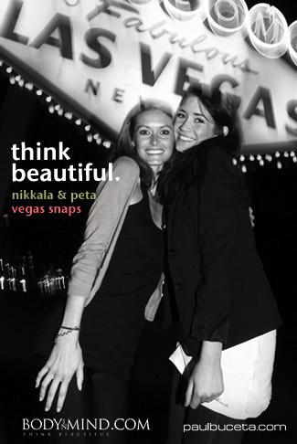 Nikkala Stott & Peta Todd - `Vegas Snaps` - by Paul Buceta for BODYINMIND