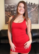 Abby Cross Strips Of Out Of Red Dress Live And Masturbates!