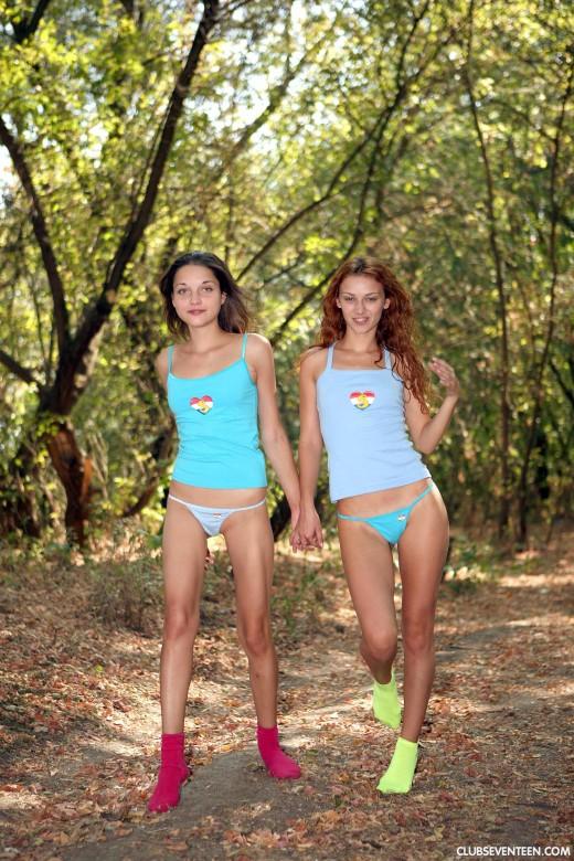 Naked girls on beach