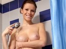 Hika - Hika shows off her tits in the bathroom