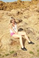 Terra - Terra plays in the haystack