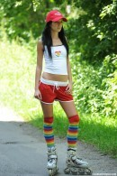 Hot girl on inline skates