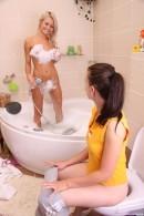 Sabrina and Nicoleta bathing together