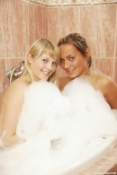 Chanel A & Marilyn B - Two delicious blondes having dildo fun in the bath