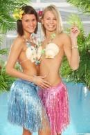Mia B & Debbie E - Naked Hawaiian girls