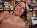 Sue masturbates in the library