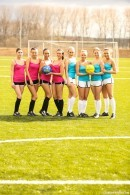 Nessy & Violette & Bailey & Vanessa P & Tess C & Lilly P & Naomi I & Cayla A in World cup kick off gallery from CLUBSEVENTEEN