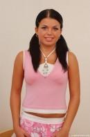 Veronique in pink underwear