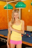 Mia B in Naked on a pool table gallery from CLUBSEVENTEEN