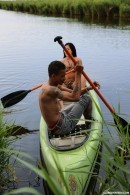 Daniella C in Romantic canoe ride gallery from CLUBSEVENTEEN