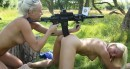 Jessie C & Naomi I - Naked girls with guns