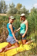 Giselle A & Christine D - 2 gorgeous blondes go fishing but ending up having sex