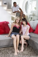 Rosa B & Paula D - Hot teeny threesome