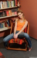Megan A in Megan masturbates in study room gallery from CLUBSEVENTEEN