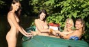 4 girls rafting naked